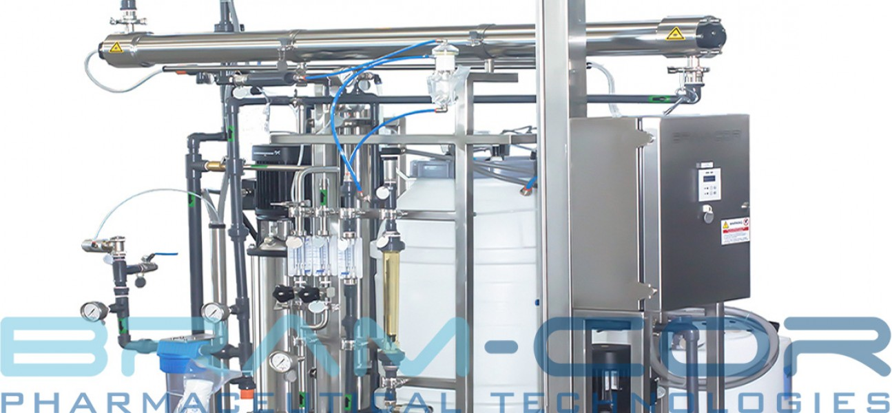 Bram-Cor Pharmaceutical Equipment - Water Treatment skid with UV reactor