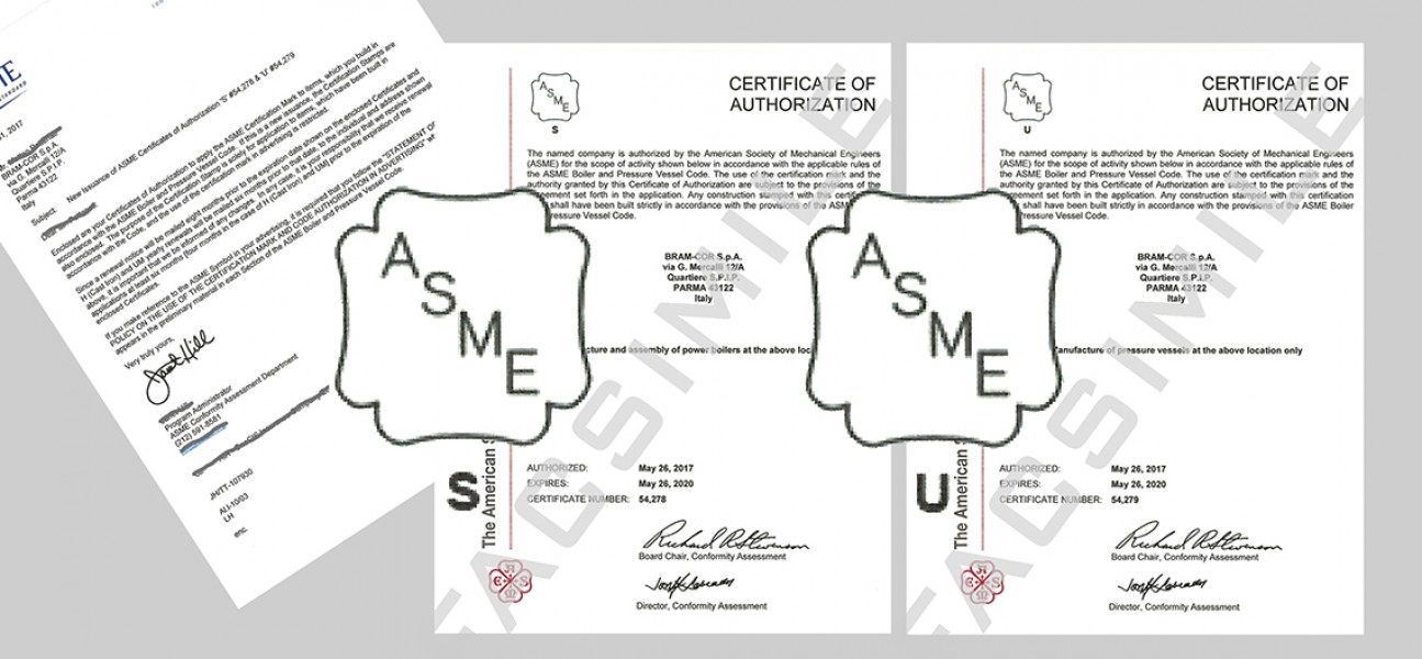 Bram-Cor Pharmaceutical Technologies and Equipment - ASME STAMPS