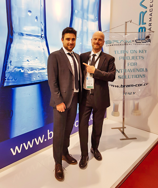From Bram-Cor Marketing Dpt, Alessandro Peri and Francesco Vasé at CPhI 2019